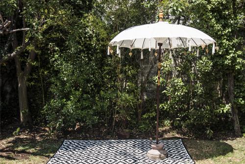 Quitasol de Bali de 2 mts de diámetro con tela waterproof