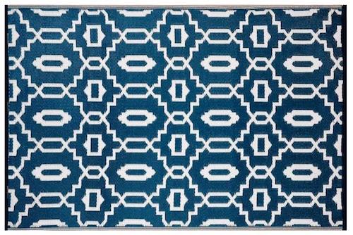 Alfombra PET moderna azul marino 120 x 180 cm