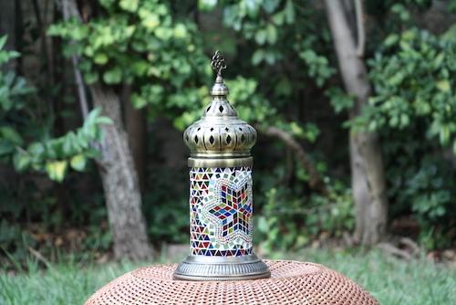 Lámpara turca de mesa recta XL