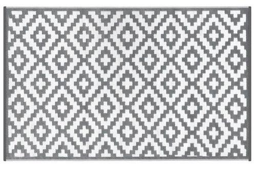 Alfombra PET Nirvana gris claro con blanco 150 x 240