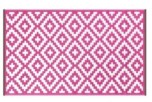 Alfombra PET Nirvana rosado con crema 150 x 240