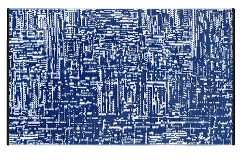 Alfombra PET azul marino Cosmopolitan 120 x 180 cm