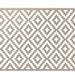 Alfombra PET rombos beige con blanco 150 x 240 cm