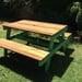Mesa de madera de picnic para niños