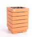 Macetero autoregante de madera cuadrado Kaykun