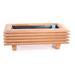 Macetero autoregante de madera estilo japonés
