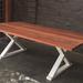 Mesa de comedor de madera de roble de demolición