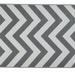 Alfombra PET zig zag gris de 150 x 240 cm arriendo
