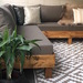 Terraza lista con alfombra de 150 x 240 cm