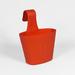 Macetero colgante simple chico - macetero para balcones rojo.jpg