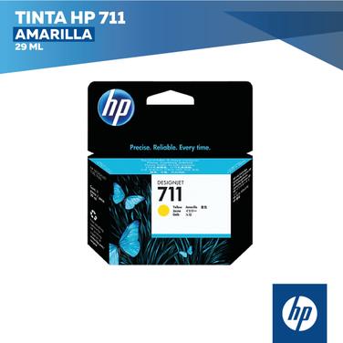 Tinta HP 711 Amarilla (COD: CZ132A)