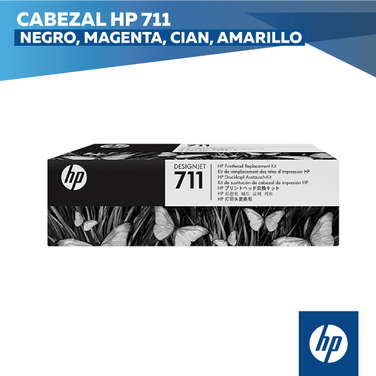 Cabezal HP 711 Negro, Magenta, Cian, Amarillo (COD: C1Q10A)