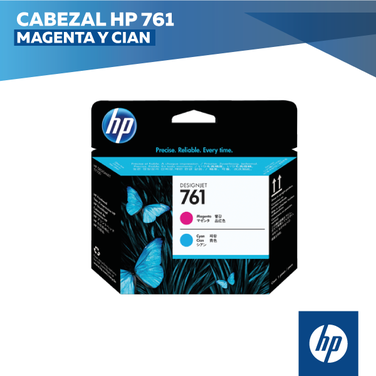 Cabezal HP 761 Magenta y Cian (COD: CH646A)