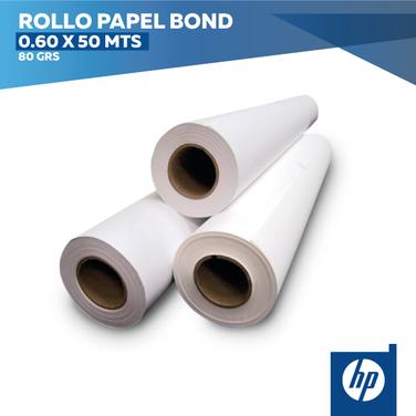 Rollo Papel Bond 60 x 50 mts