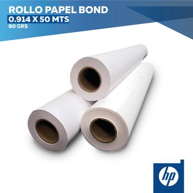 Rollo Papel Bond 0,914 x 50 mts