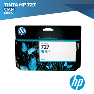 Tinta HP 727 Cian (COD: B3P19A)