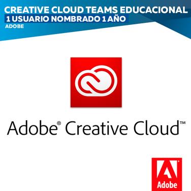 Adobe Creative Cloud Teams Educacional (1 usuario nombrado 1 año) Ximena Callejon