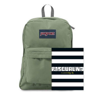 Planner Pascualina + Mochila Jansport Mutted Green - $19.990 (sólo despacho a domicilio)
