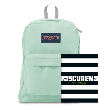 Planner Pascualina + Mochila Jansport Brook Green - $19.990 (sólo despacho a domicilio)