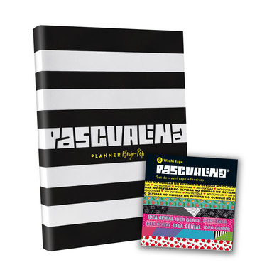 Planner Pascualina Brujo Pop + Washi Tapes 8 hojas - $16.990