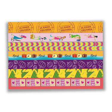 Stickers Tradicional + Washi Tapes - 13 hojas - $7.990