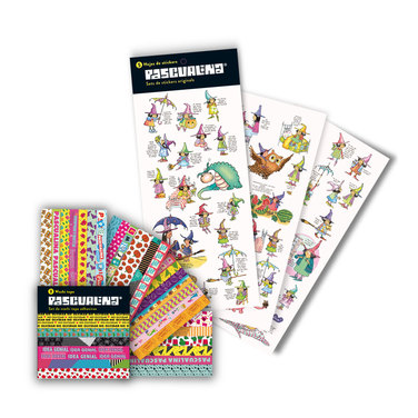 Pack Stickers Pascualina Originals + Washi Tapes - 13 hojas $7.990