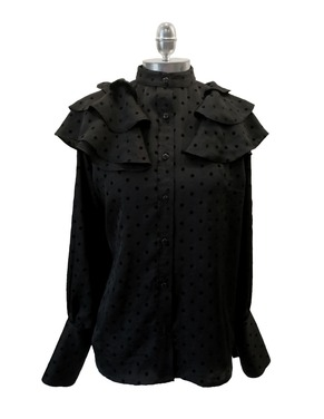 Blusa Vuelos | Negro - Lunares |
