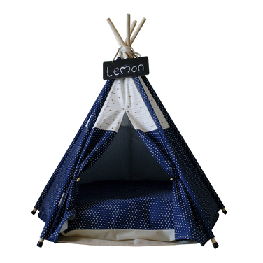 Pet Teepee Blue and White (carpita para mascota pequeña)
