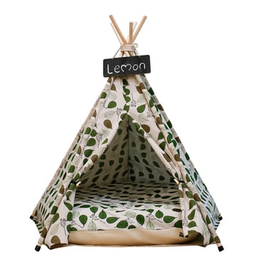 Pet Teepee Green Leaves (carpita para mascota pequeña)