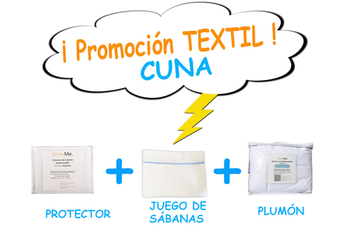 Promo 2 - Textil CUNA (protector + sábanas + plumón)
