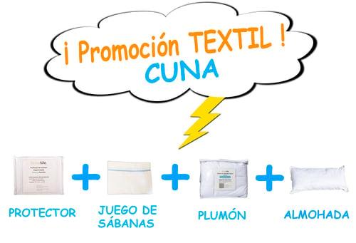 Promo 3 - Textil CUNA (protector + sábanas + plumón + almohada)