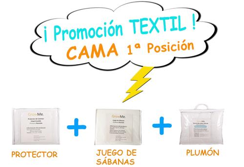 Promo 5 - Textil CAMA POSICIÓN 1 (protector + sábanas + plumón)