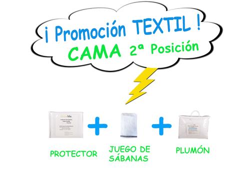 Promo 8 - Textil CAMA POSICIÓN 2 (protector + sábanas + plumón)