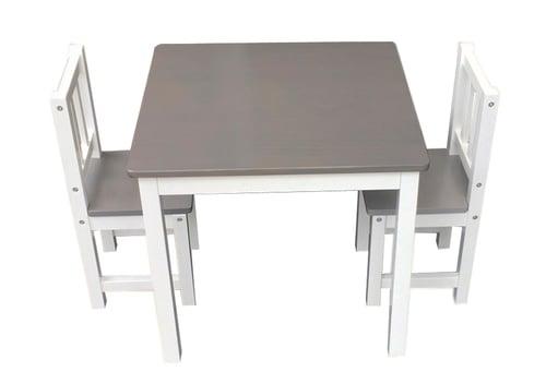 Mesa + 2 sillas - Gris