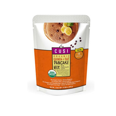 Mezcla orgánica Panqueques quinoa y avena con chips de chocolate (280 grs)- Cusi