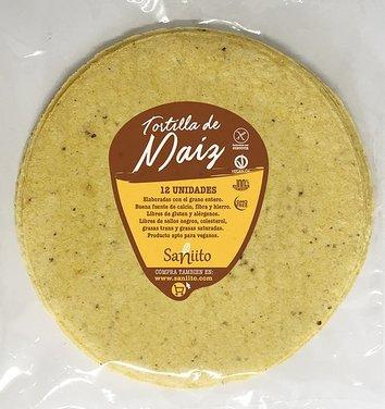 Tortilla maiz 21 cms (12 unidades)