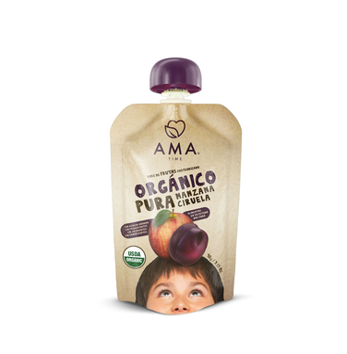 pack 8 AMA - Manzana Ciruela Organico 90grs