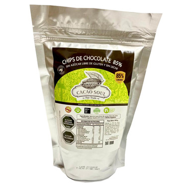 Chips de Chocolate sin Azucar 85% 500 grs