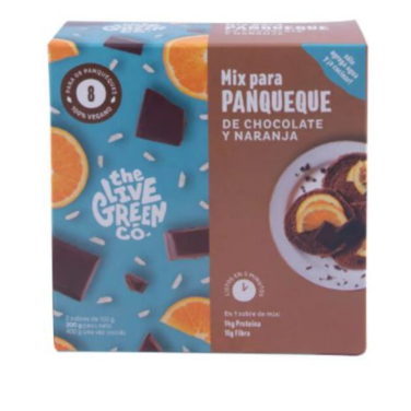 Green Mix para Pancakes de chocolate y naranja