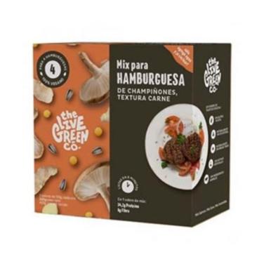 Green Mix para Hamburguesa de champiñones, textura de carne
