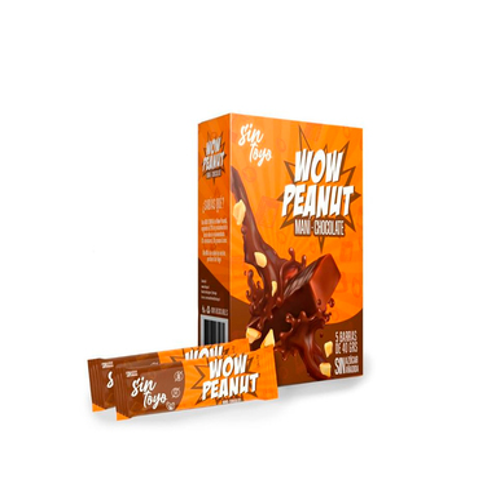pack 5 Barras de Maní con Chocolate