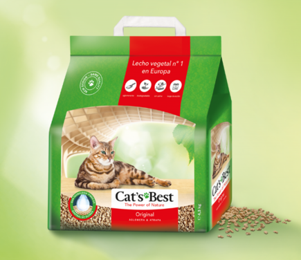 Arena Sanitaria Vegetal Cats Best Original 4.3 Kg
