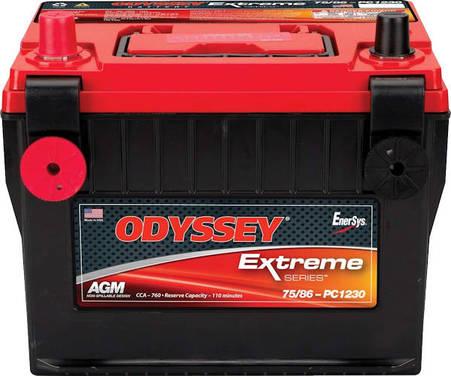 BATERIA ODYSSEY AGM MOD. 75/86-PC1230 55AH 760CCA POSITIVO IZQUIERDO TERMINAL DOBLE SAE/INSERTO 3/8-16