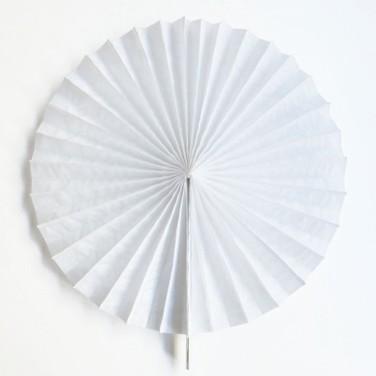 Abanicos papel - BLANCO