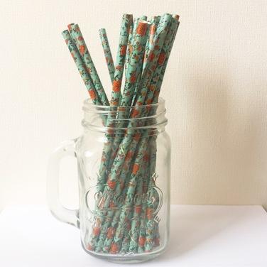 Bombillas de papel - Flores