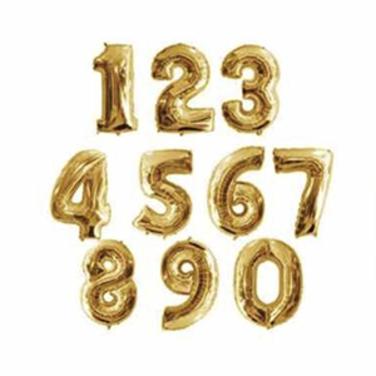 Globos de Numeros Gold -  100 cm