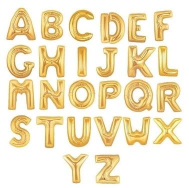 Globo de Letras Gold -  40 cm
