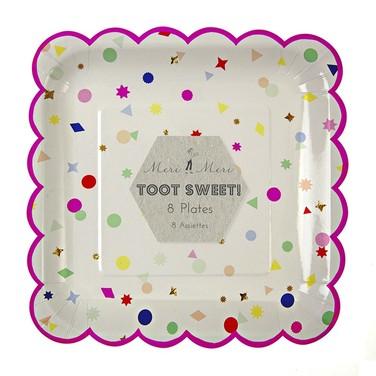 Platos de Cartón - Toot Sweet Charms Scallop