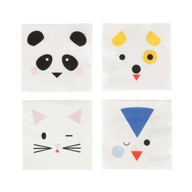 Servilletas de papel Mini animales