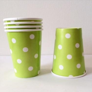 Vasos de carton con puntitos - MULTICOLOR